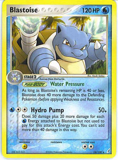 Blastoise card